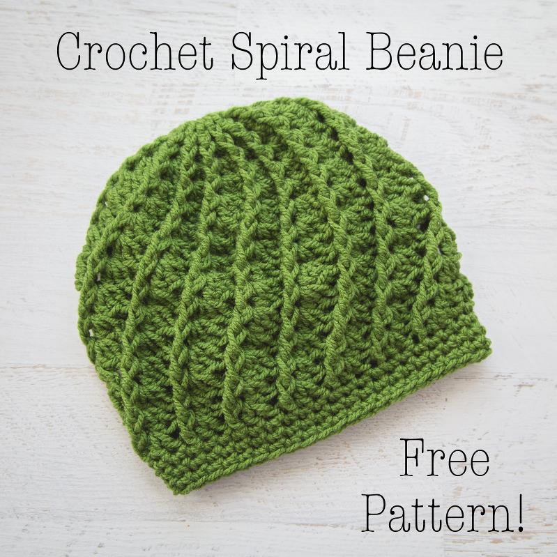 75af0aeaed8 Crochet Spiral Beanie – Free Crochet Pattern » Loganberry Handmade