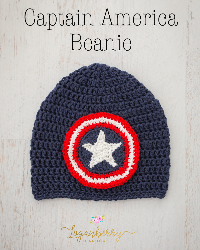 2fddb5580384c Captain America Beanie – Free Crochet Pattern. Filed in Crochet Hats ...