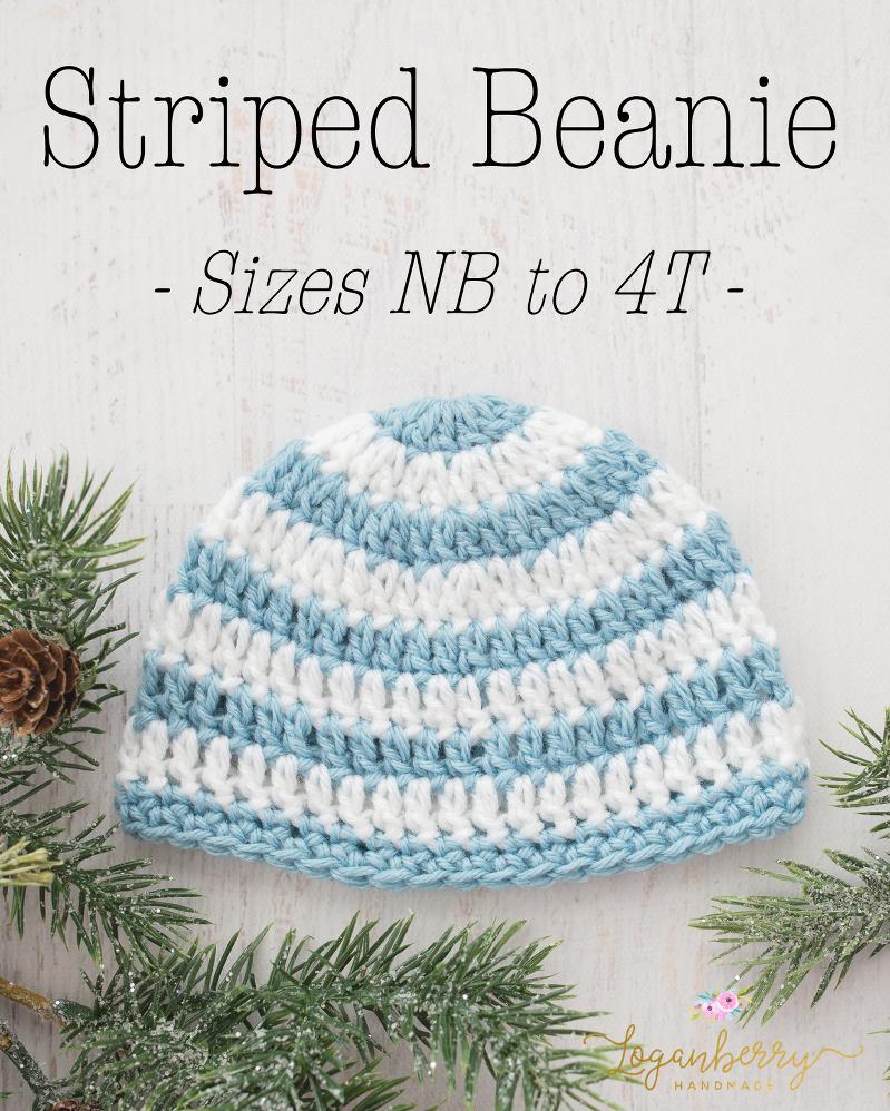 Newborn Beanie Crochet Pattern Loganberry Handmade