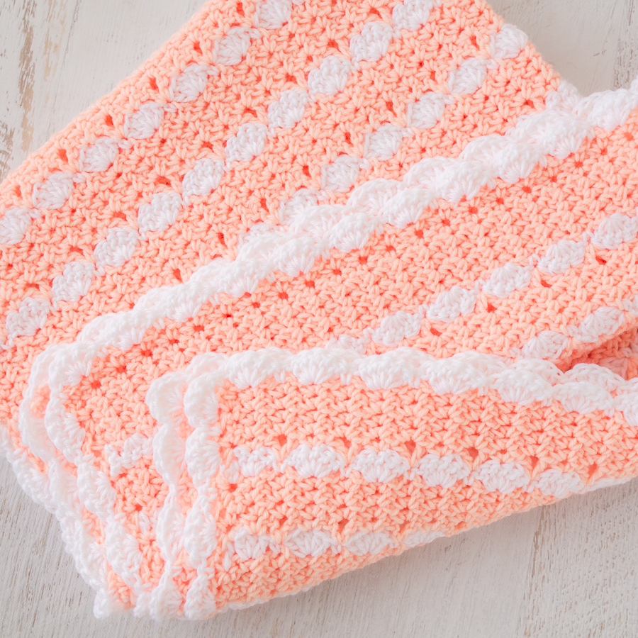 Peaches Cream Baby Blanket Free Crochet Pattern Loganberry
