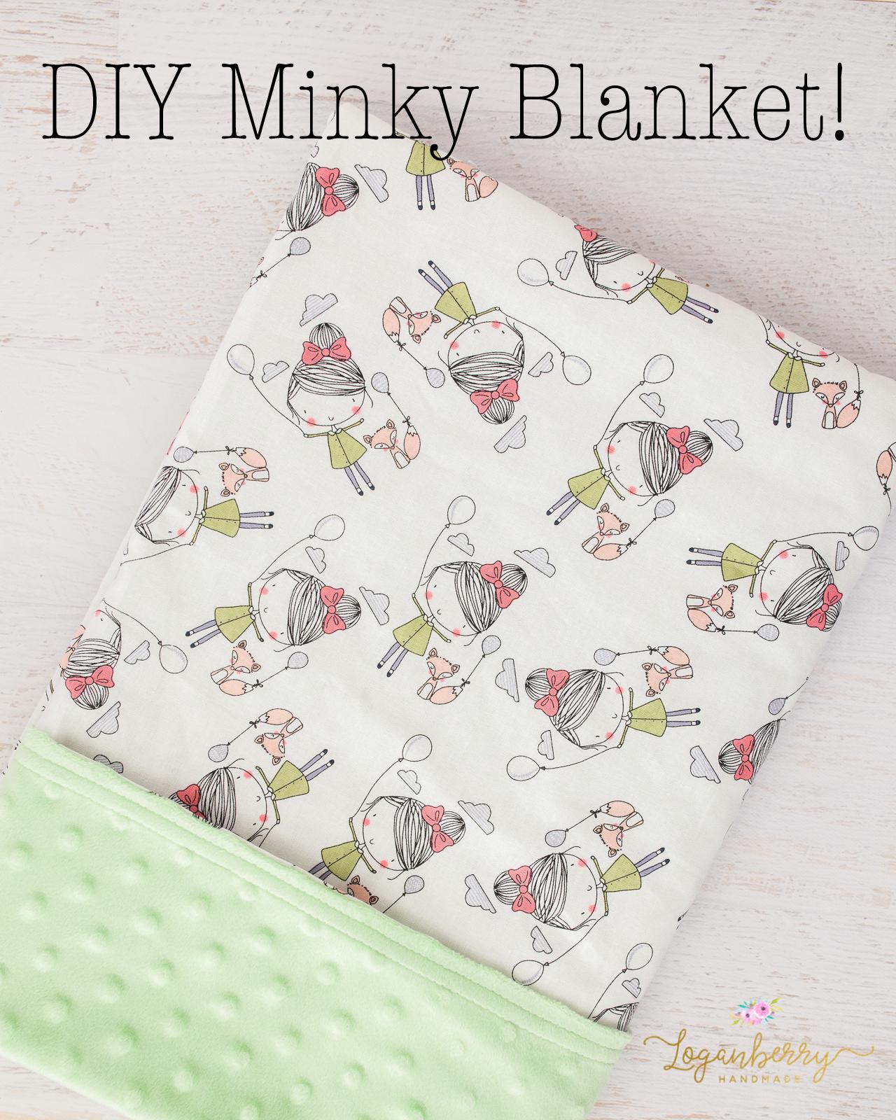 Baby Minky Blanket Loganberry Handmade