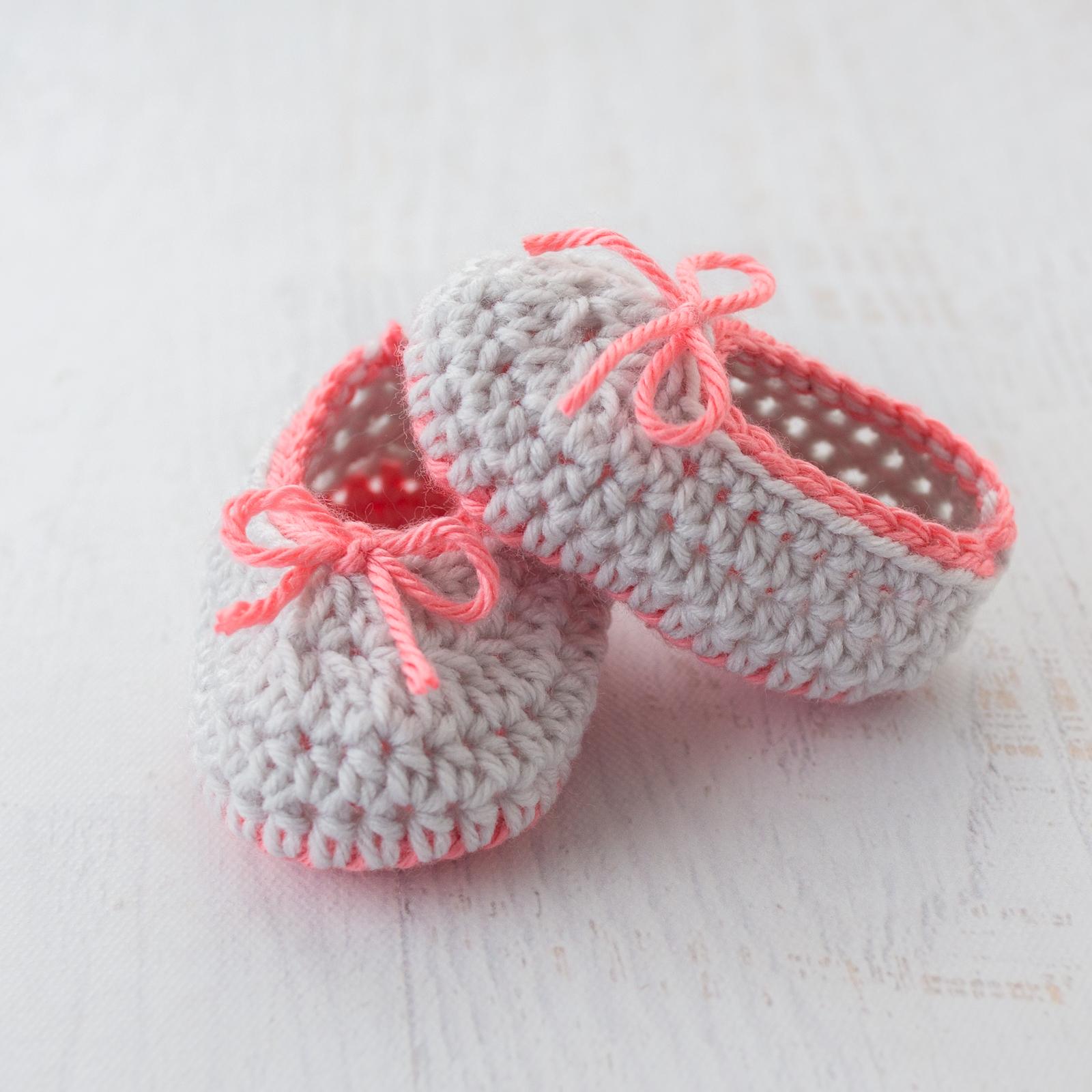 Neon Trim Baby Slippers Free Crochet Pattern Loganberry Handmade