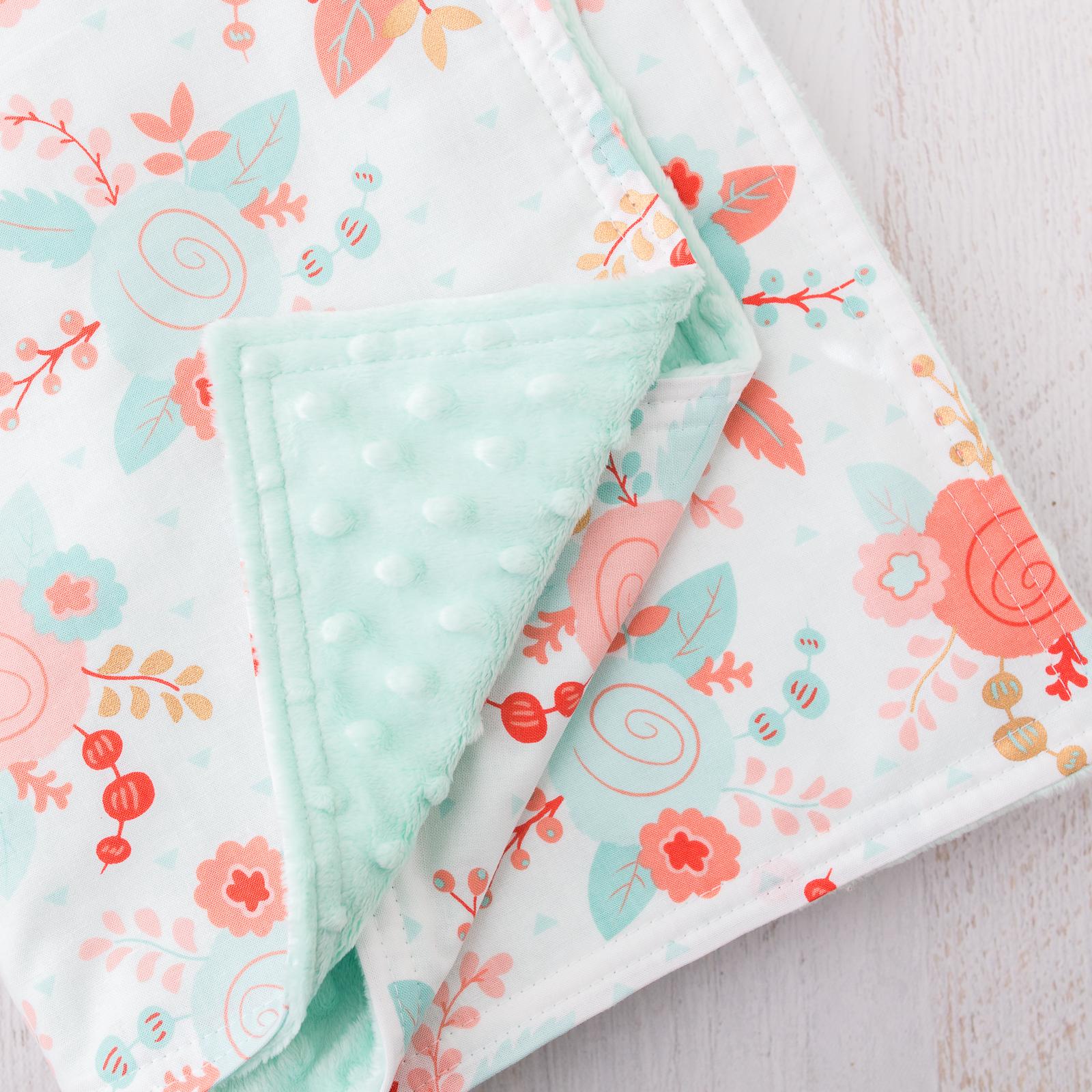 30 Minute Baby Blanket Loganberry Handmade