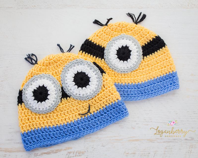 9c8a71e57859f Crochet Minions Beanie – Free Pattern! » Loganberry Handmade