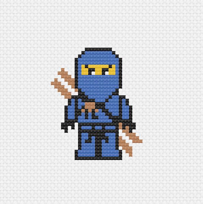 Ninja Häkelanleitung | Häkeln lego, Häkelanleitung, Häkeln buch | 659x658