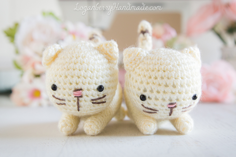 Crochet Cats Pattern, Amigurumi Cats, Free Pattern, Tutorial, Knitted Cats, Crochet Kittens, Lynx Point Siamese Cats, Crochet for Kids